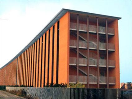 Esterno degli appartamenti per studenti del Campus 1